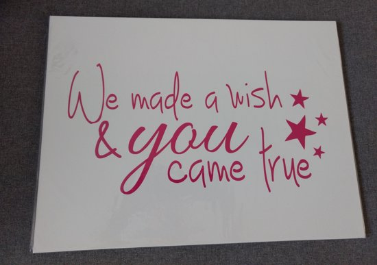 Coole Letters Babykamer : Bol tekstbord van mdf voor babykamer creme roze