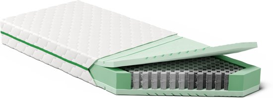 Koudschuim Matras tot 150 kg  90 x 200 cm - HR+ Technologie - Multi Pocketvering