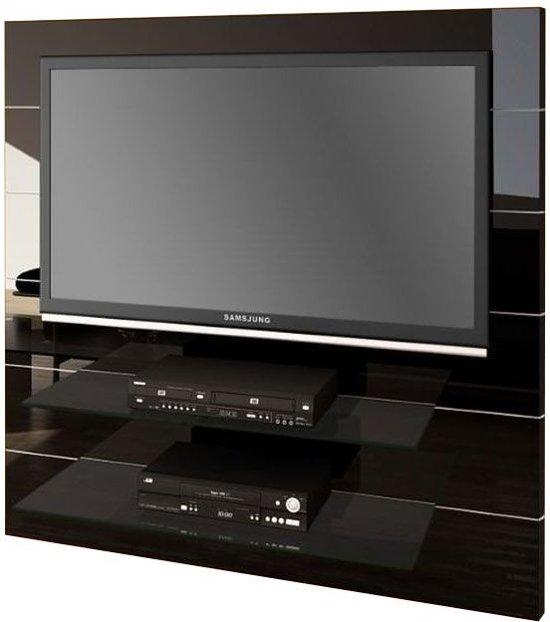 Hubertus meble panorama tv meubel zwart for Tv meubel glas