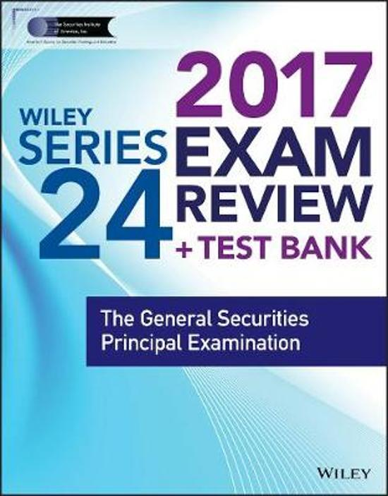 Wiley Finra Series 24 Exam Review 2017