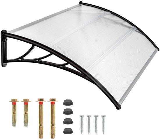 TecTake deurluifel  - afdak deurluifel - polycarbonaat - 120 cm breed - 401264