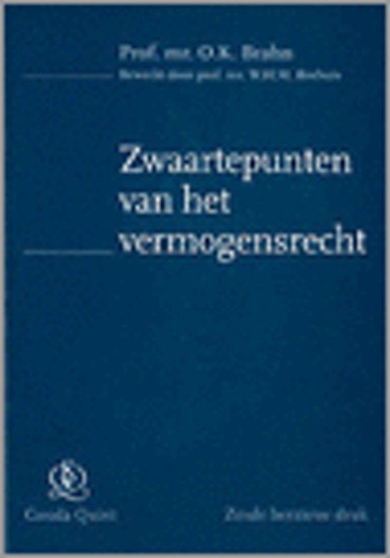Boek cover Zwaartepunten van het vermogensrecht van O.K. Brahn (Paperback)