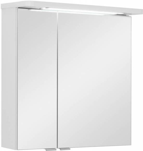 grete spiegelkast 60 cm met led verlichting wit hoogglans