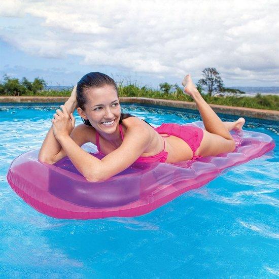 Intex Suntanner opblaasbare luchtbed roze