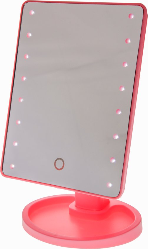 bol.com | Touch Screen Make-Up Spiegel met LED verlichting - Roze