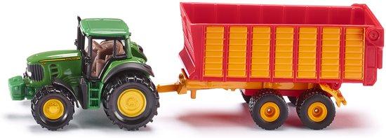 SIKU 1650 John Deere Tractor met Aanhanger