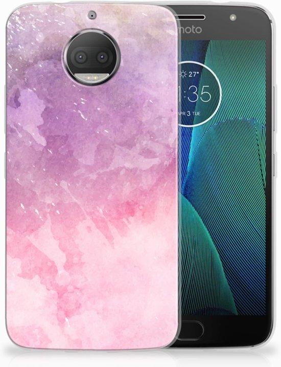 Motorola Moto G5S Plus TPU Hoesje Design Pink Purple Paint