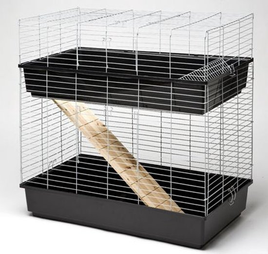 Konijnenkooi / caviakooi Skyline Rabbit 120 dubbel zwart