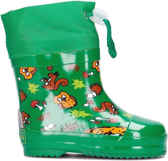 Playshoes Korte Regenlaarzen Bosdieren Groen Maat 19