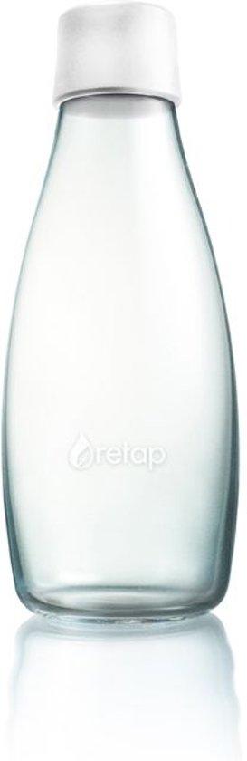 Retap Waterfles - Glas - 0,5 l - Frosted White