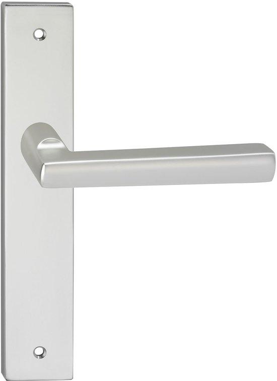 Impresso Leeds Deurbeslag - Voor binnen - Vierkant deurschild met schroeven - Aluminium