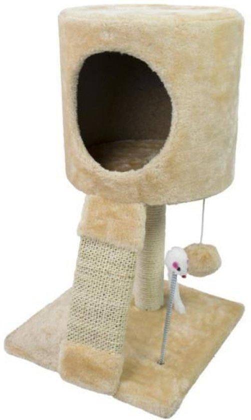 Krabpaal met slaapplaats voor de kat