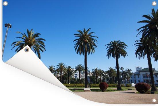 Het Vierkant van de Verenigde Naties in Casablanca Tuinposter 120x80 cm - Tuindoek / Buitencanvas / Schilderijen voor buiten (tuin decoratie)