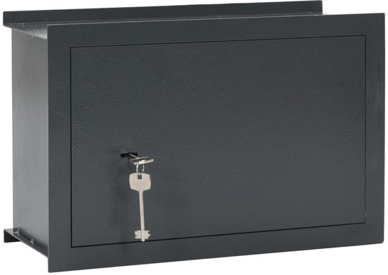vidaXL Wandkluis 49x19,5x32 cm donkergrijs