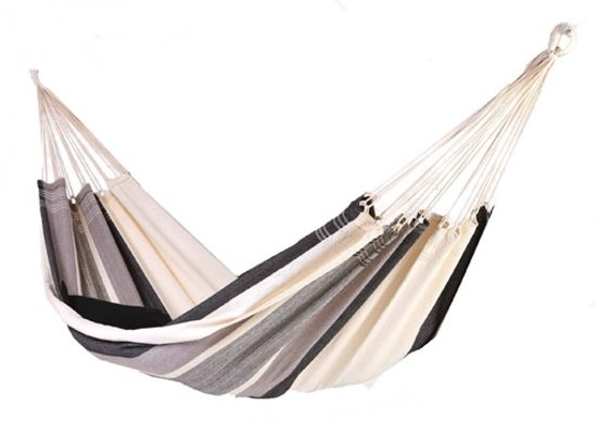Denana hangmat - Jaracanda – 335 x 140 cm – gestreept – ecru – eenpersoons