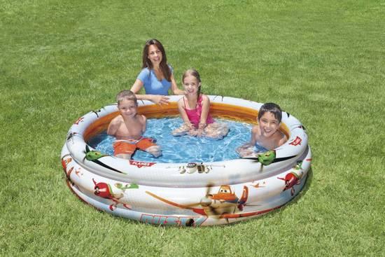 Intex 3-Rings Opblaasbaar Zwembad Planes - 168 x 48 cm