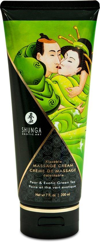 Eetbare massagecrème - peer & groene thee