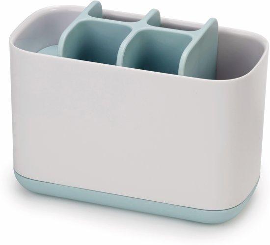 Joseph Joseph Badkamer Easy-Store Tandenborstelorganiser Large - 16.8x8.4x12.6 cm - Creme/licht blauw