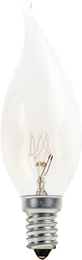 Kaarslamp Gloeilamp TIP 15 Watt E14 Helder (10 stuks)