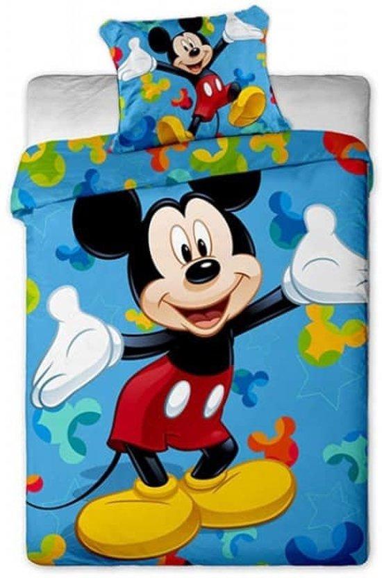 Mickey Mouse dekbedovertrek   Mickey blauw   1 persoons kopen? Laagste prijs, aanbiedingen