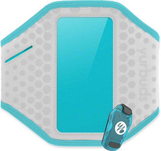 Yurbuds Universal Ergosport LED Armband - Grijs / Aqua Blauw in Zonnemaire