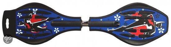 Afbeelding van het spel Streetboard Waveboard blue batman met light up wheels 80cm
