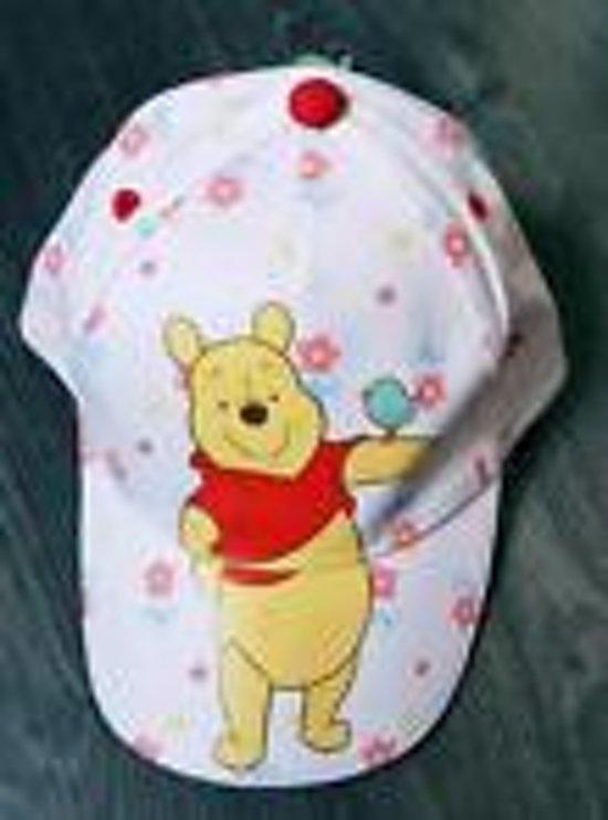 Wit gebloemde pet Winnie the Pooh, maat 48