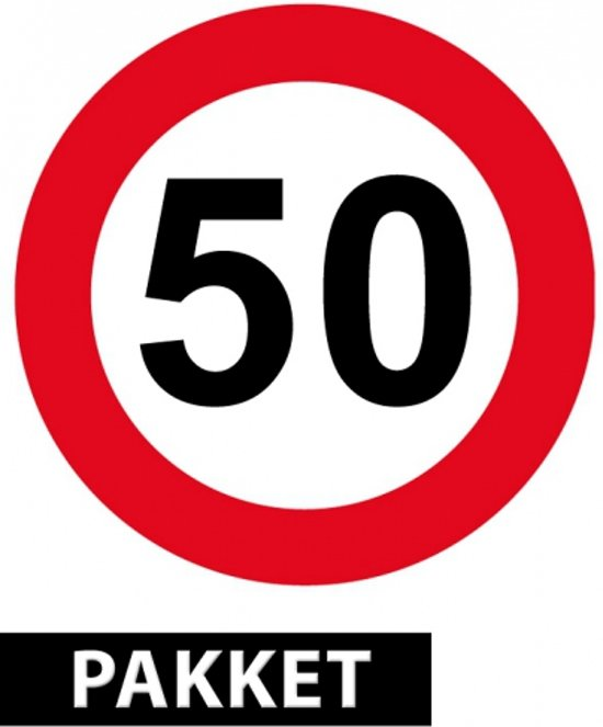 50 jaar feestartikelen bol.| Feestartikelen 50 jaar pakket, Shoppartners | Speelgoed 50 jaar feestartikelen