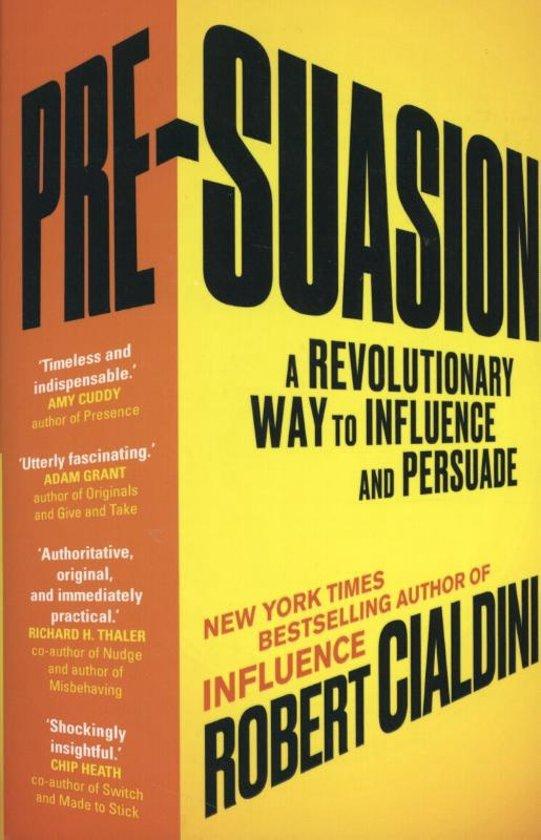 Boek cover Pre-Suasion van Robert B. Cialdini (Paperback)