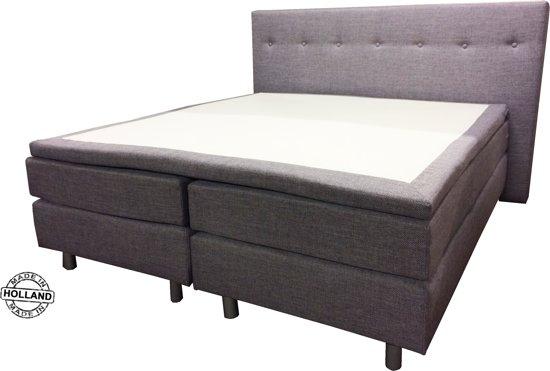 Slaaploods.nl Dana - Boxspring inclusief matras - 180x200 cm - Grijs