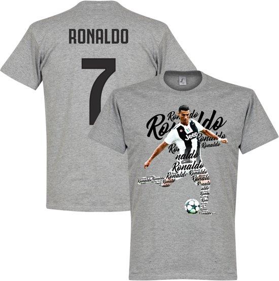 Ronaldo 7 Script T-Shirt - Grijs - XXXL
