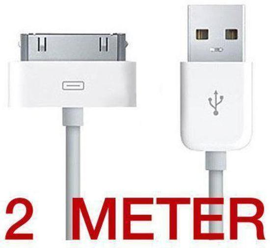 Apple iPhone 4   4s USB kabel 2 Meter 3e356445891