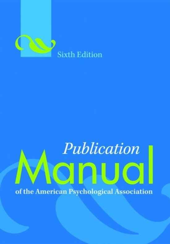 Pub. Manual of the American Psychological Association