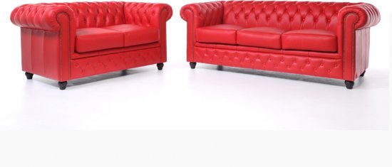 Chesterfield Original Brighton 2+3-zits Modern Rood