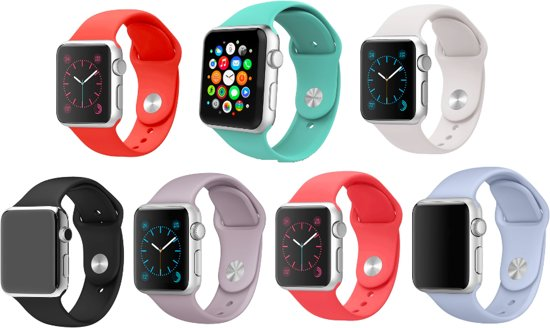 Luxe Siliconen Bandjes voor Apple Watch 38mm – Multicolour Armbanden iWatch - One size