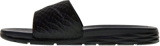 Nike 38 5 Benassi Mannen Solarsoftslippers Zwart donker Grijs Maat 4frqw4O