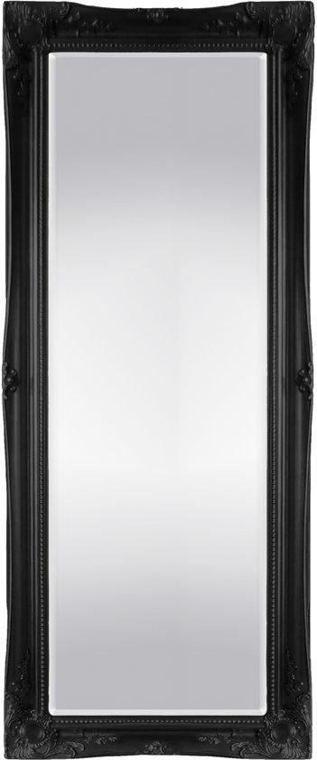 Grote Klassieke Spiegel Ethan Buitenmaat 76x198cm Zwart