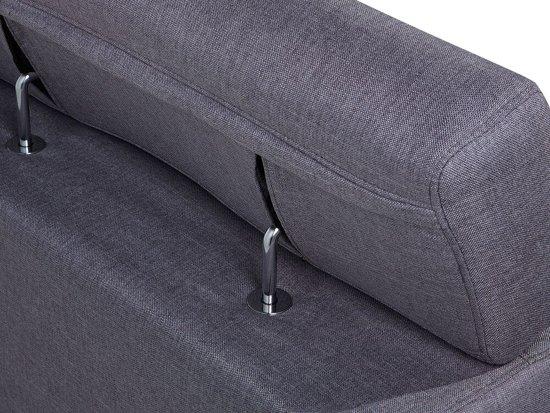 Beliani Norrea Hoekbank Grijs polyester