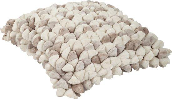 Haans Lifestyle Pebble - Sierkussen - 45x45 cm - Wit