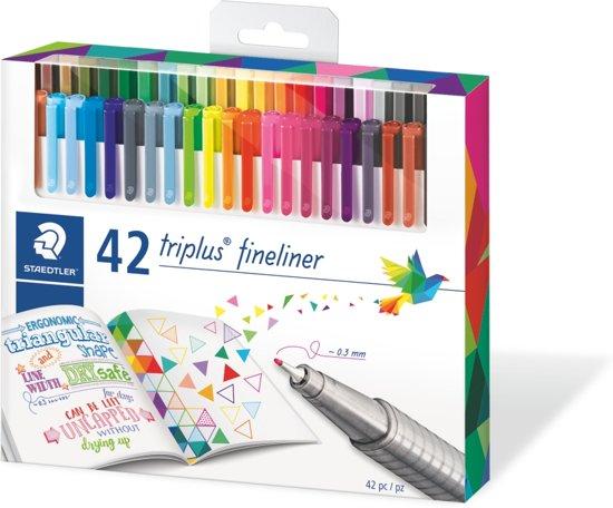 triplus fineliner - set met 42 kleuren (32 + 10 Gratis)