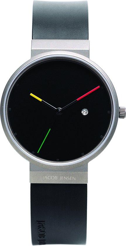 Jacob Jensen New Line 640 Titanium - Horloge