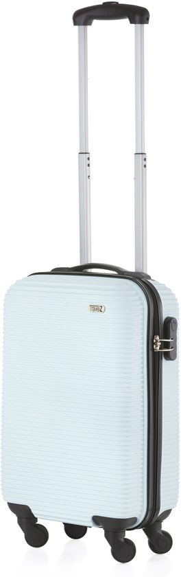 TravelZ - Horizon - Handbagagekoffer 54cm - ABS Trolley met gevoerde binnenkant - Baby Blauw