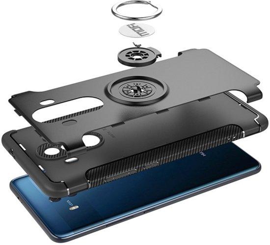 Let op type!! MOFI voor mysterieuze serie Huawei Mate 10 Pro schokbestendige beschermende achtercover hoes met magnetische draaibare ringhouder (blauw)
