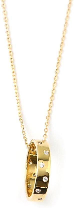 Orelia ketting crystal ring goudkleurig