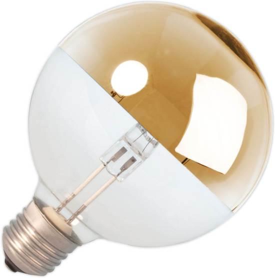 Halogeen EcoClassic globelamp kopspiegel 42W goud 95mm grote fitting