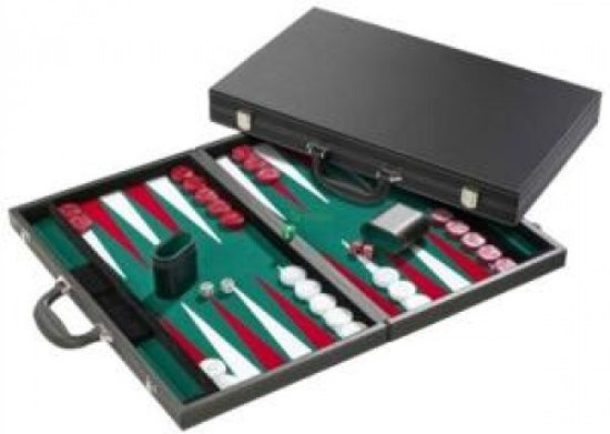 Backgammon 46 cm ingelegd vilt