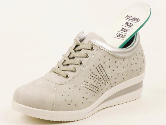 dames sneakers met losse zool