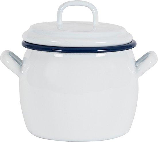 Kookpan met deksel Wit, 0,7 L -Kockums