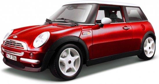 Modelauto Mini Cooper rood 1:18 - auto schaalmodel / miniatuur auto's