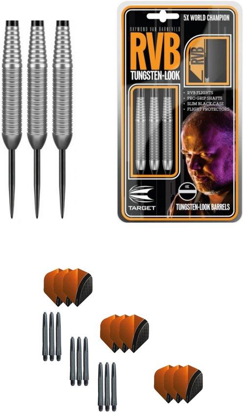 Target - Raymond van Barneveld - Tungsten Look 21 gram - dartpijlen + 9 dartshafts + 9 dartflights